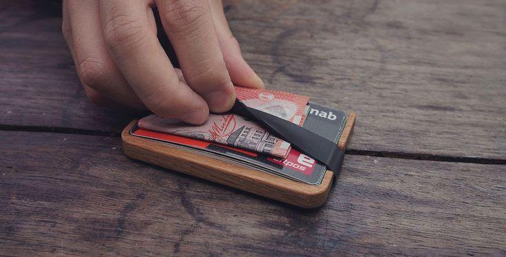 Popquito minimalista pénztárca fából | Az online férfimagazin