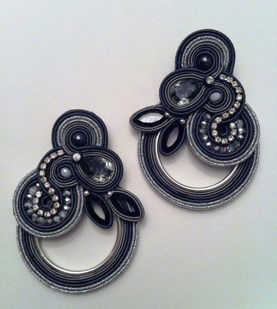 DIY soutache tutorial Castle of glass earrings by AdelsLaboratory, €10.00