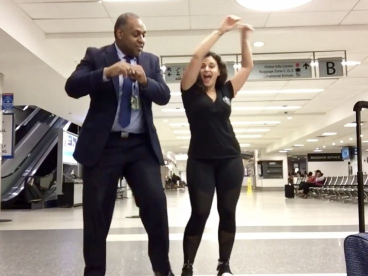 Woman Stranded at Charlotte Airport Creates Hilarious Viral Dance Video | See a North Carolina airport become the backdrop for an impromptu Lionel Richie masterpiece.