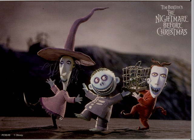 Lock, Shock and Barrel from 'The Nightmare Before Christmas'.