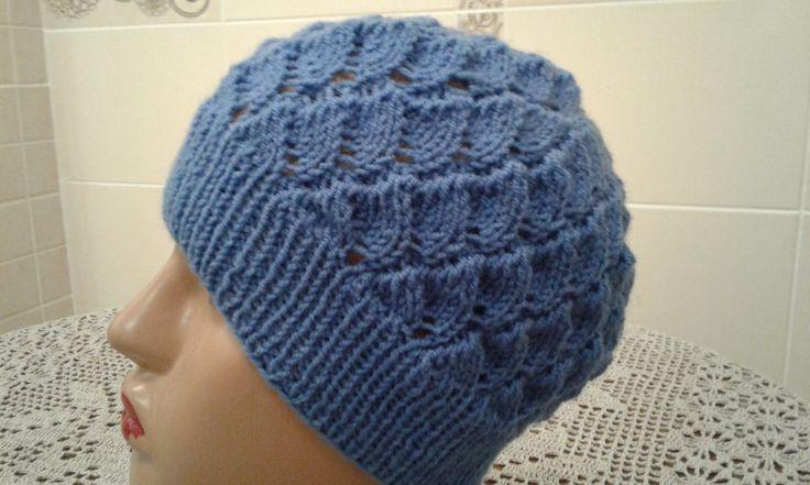 Ажурная шапочка спицами. Часть 2. // Women's hats knitting // How to kni...