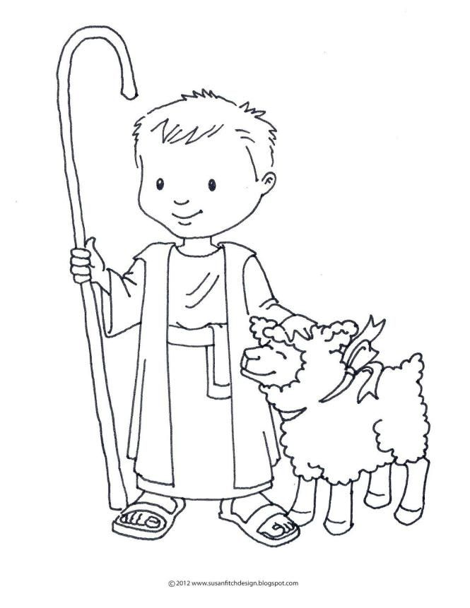 18 Coloring Page David The Shepherd Boy