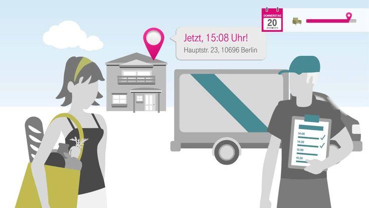 """Arrival Control -- flexible Terminplanung zwischen Kunden und Unternehmen in Echtzeit. Mit der """"Arrival Control"""" App der Deutschen Telekom können Unternehmen ihren Kunden Terminabstimmung in Echtzeit bieten: Ein """"Arrival"""" zeigt genau, wann ein Produkt oder eine Dienstleistung beim Kunden ankommt, Verzögerungen werden mit eingerechnet. Web: http://www.t-systems.de"""