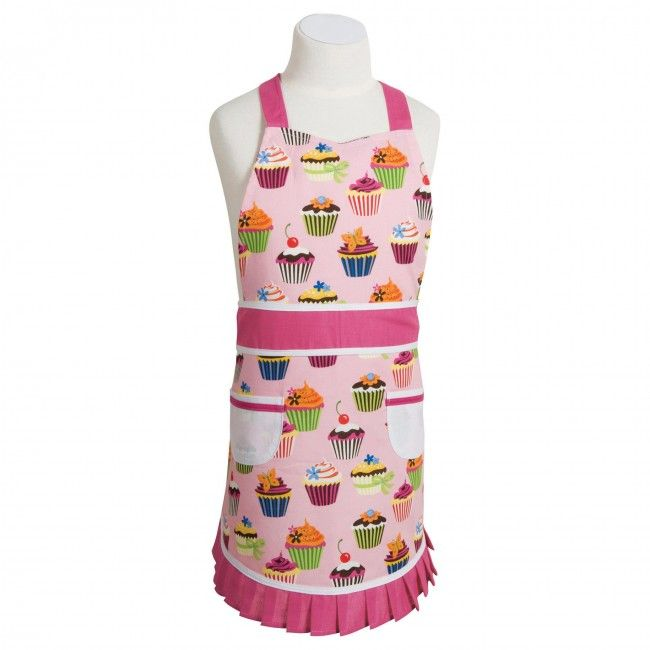 Let the little ones help out in the kitchen with a Danica Children's Apron. This classic pattern has been a signature style apron for over 40 years. Apron features two large front pockets with extra-long neck and waist ties.
