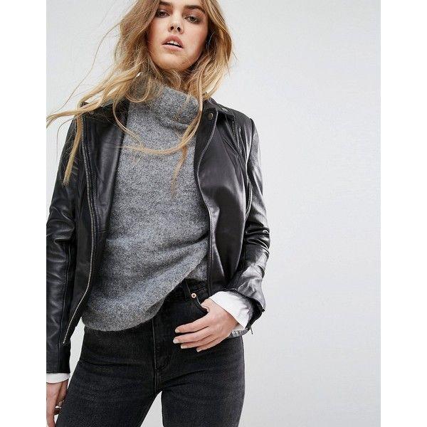 Compra Chaqueta de cuero de mujer color negro de Muubaa al mejor precio.  Compara precios de chaquetas de tiendas online como Asos - Wossel España