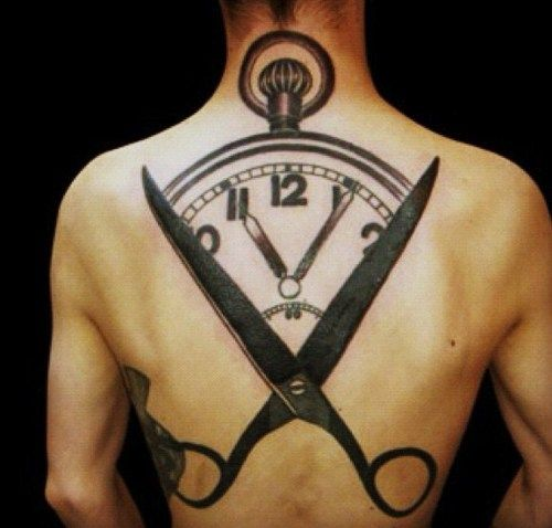 I'm not really into tats, just great art and great ideas for inspiration. I'd call it the illusion of Time.