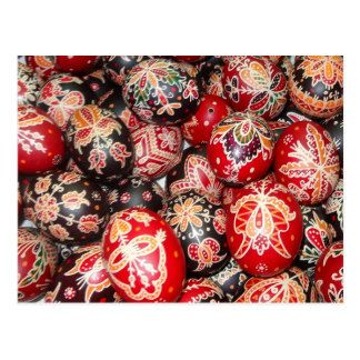 Traditional hungarian easter eggs postcard
