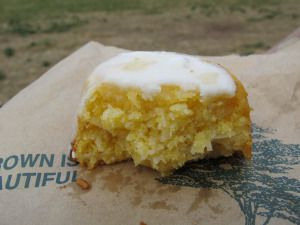 #CraftyLlama 2010 showing my #lemon #polenta #cake!