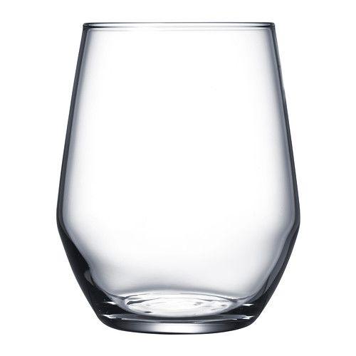 IKEA - IVRIG, Verre, La forme effilée de ce verre sans pied permet de l'utiliser pour du vin blanc car il contribue au développement des arômes et des saveurs de la boisson.