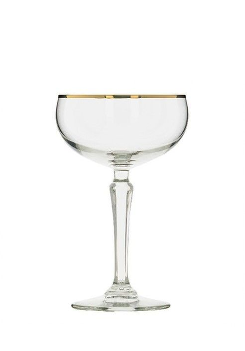 Libbey Retro champagne coupe - Gold