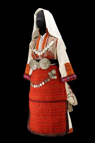 Wedding Dress. Gorni Bitolski Sela, c. 1950. Young Brides, Old Treasures: Macedonian Embroidered Dress © 2012 Museum of International Folk Art, New Mexico, USA.