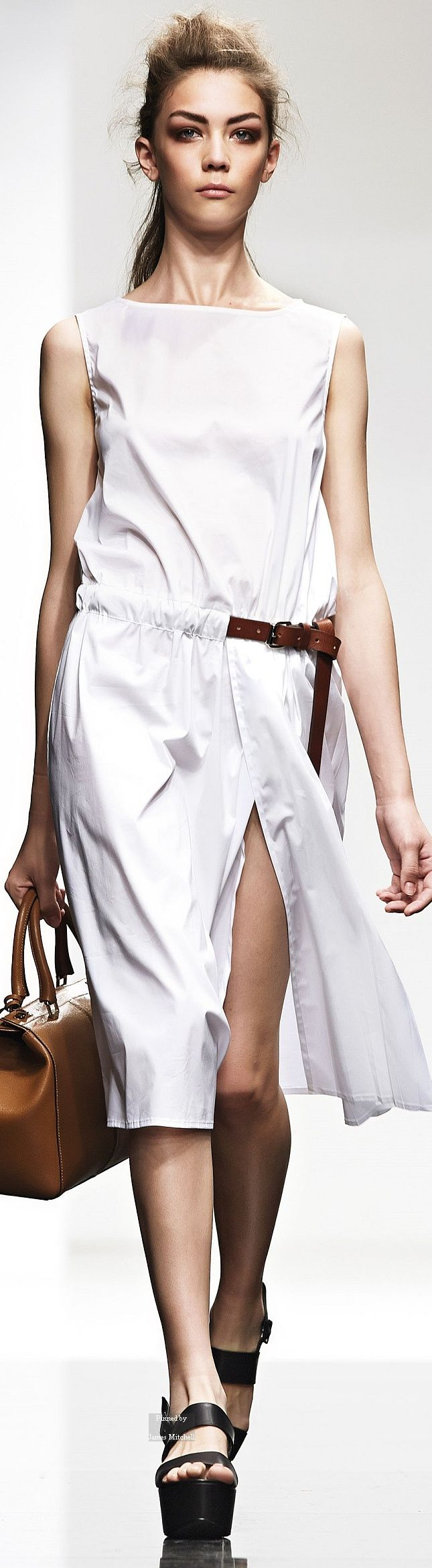 Liviana Conti Spring Summer 2015 Ready-To-Wear collection women fashion outfit clothing style apparel RORESS closet ideas Clothing, Shoes & Jewelry - Women - women's belts - http://amzn.to/2kG8U55