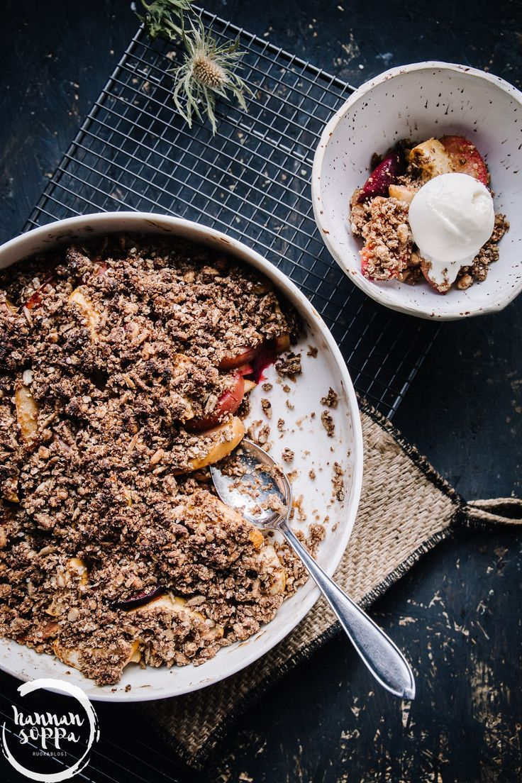 lakritsainen omena-luumupaistos / Hannan soppa
