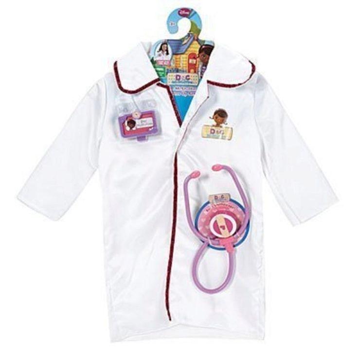 Amazon com disney doc mcstuffins dress up doctor coat costume set