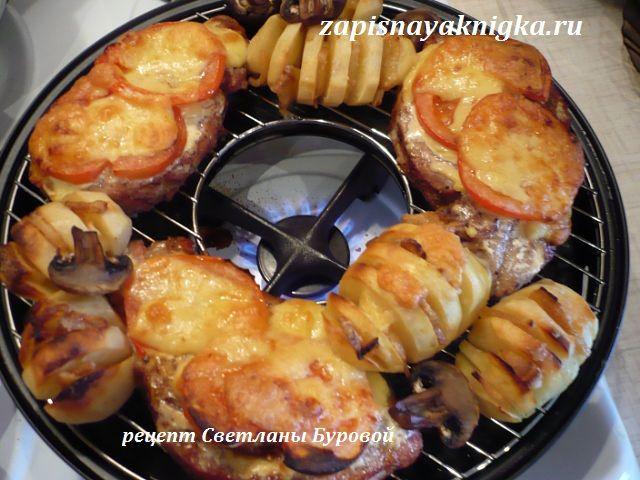 Рецепты для сковороды чудо гриль газ: свиная шейка с печеным картофелем