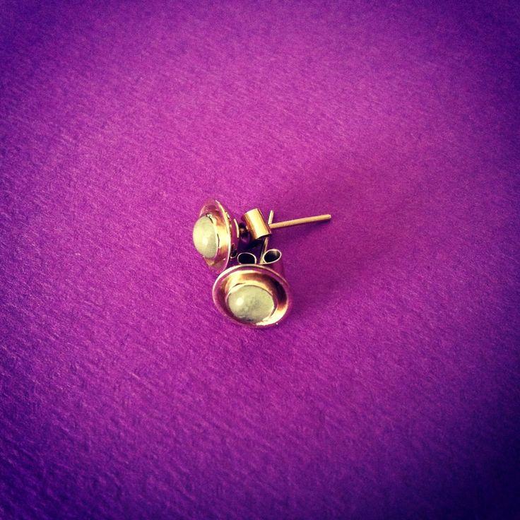 """Blue Olivia"" - Aquamarine & White Gold Earrings"