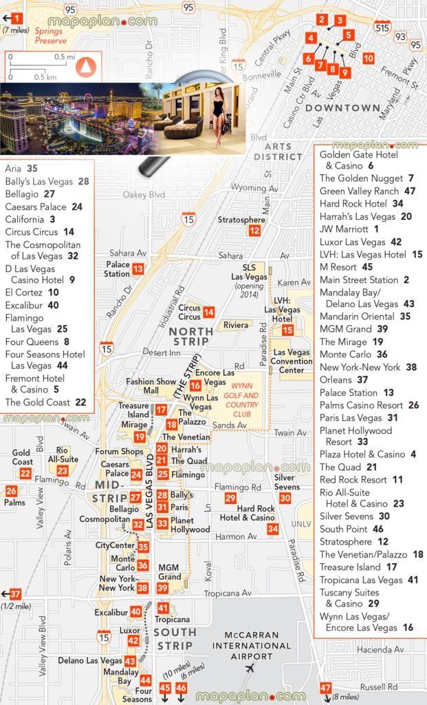 Map Of The Vegas Strip 2021