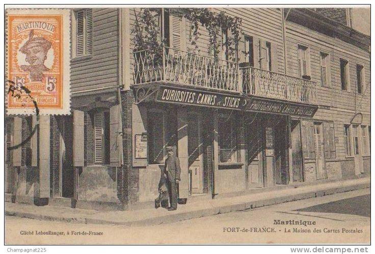 Fort de France - CPA MARTINIQUE FORT DE FRANCE La Maison des Cartes Postales Leboullanger