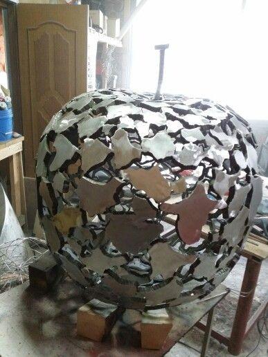 Steel sculpture /korean sculptor YongHwan Jeon /backside