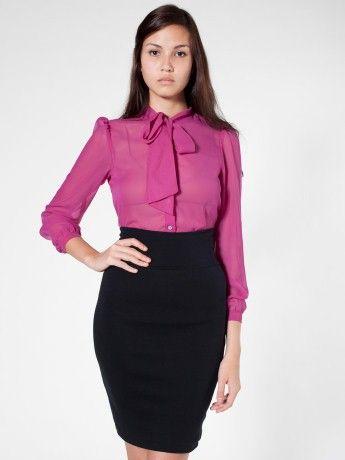 american apparel スリムでぴったりとフィットします。ハイウエストインターロックスカートと似ているスタイルです。チューブトップとしても着用できます。