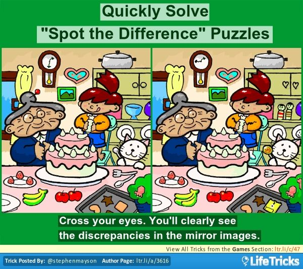 "Quickly Solve ""Spot the Difference"" Puzzles"