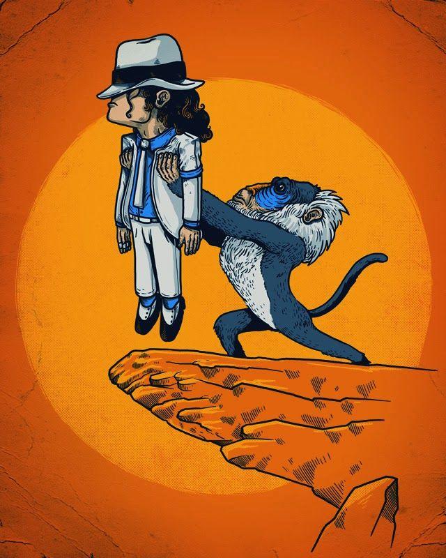 ilustraciones alex solis rafiki michael jackson Ilustraciones graciosas de playeras por Alex Solis