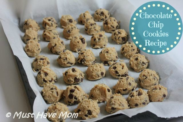BEST Chocolate Chip Cookies Recipe ~ Chocolate Chip Cookie Dough Freezer Recipe - Must Have Mom