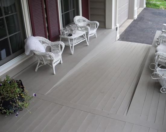 Nice ramp coming onto deck making life easier for those in a wheelchair #ramp #deck #wheelchair #disabilityliving