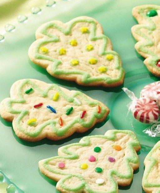 Easy Christmas Tree Sugar Cookies, Cute Christmas Cookie Recipe, Christmas Tree Cookies
