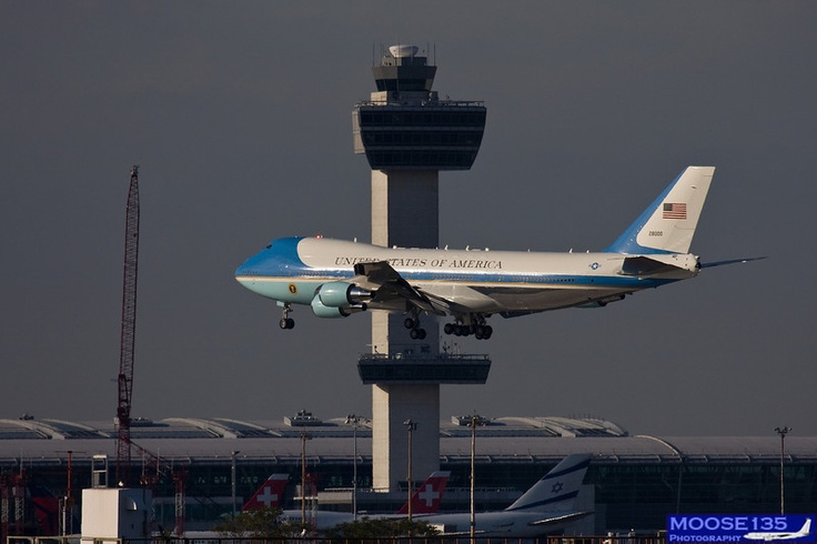 Air Force One arriving at JFK.