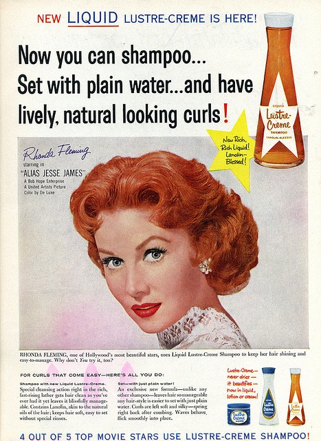 Rhonda Fleming by felixtcat, via Flickr: vintage advertisement