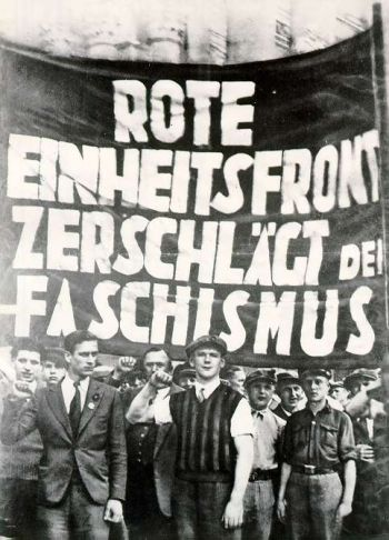 Communist Party Anti Nazi Demonstration The Banner Reads