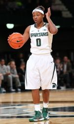 The Michigan State women's basketball team won the 2012 South Point Holiday Hoops Classic on Thursday with a 50-48 overtime victory over Texas Tech. Sophomore Kiana Johnson scored all six points for MSU in overtime, including the game-winning jumper with 8.3 seconds left. The Spartans improves to 11-1 for the fourth time in program history, while Texas Tech falls to 8-2. 12.20.12
