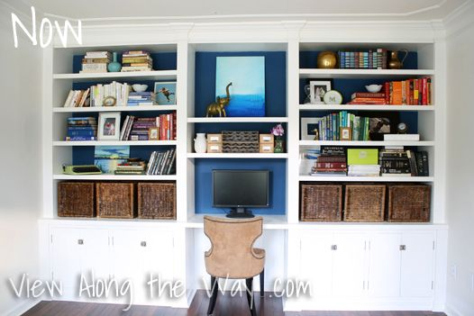 Decorated Bookshelves at View Along the Way