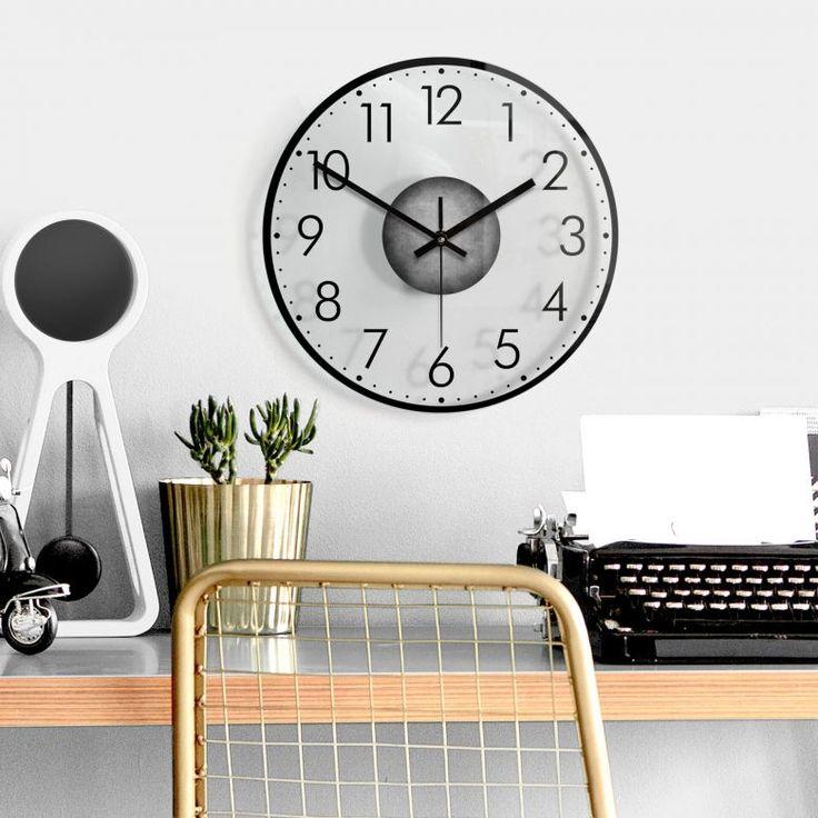 Wanduhr aus Glas - Modern mit Minutenanzeige 02   wall-art ...