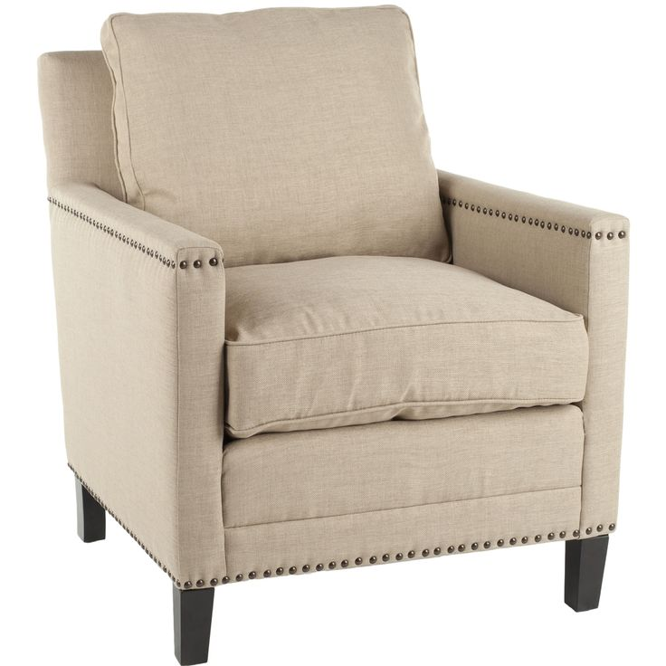 Safavieh Nail-head Straw Cotton Club Chair | Overstock.com Shopping - Great Deals on Safavieh Chairs