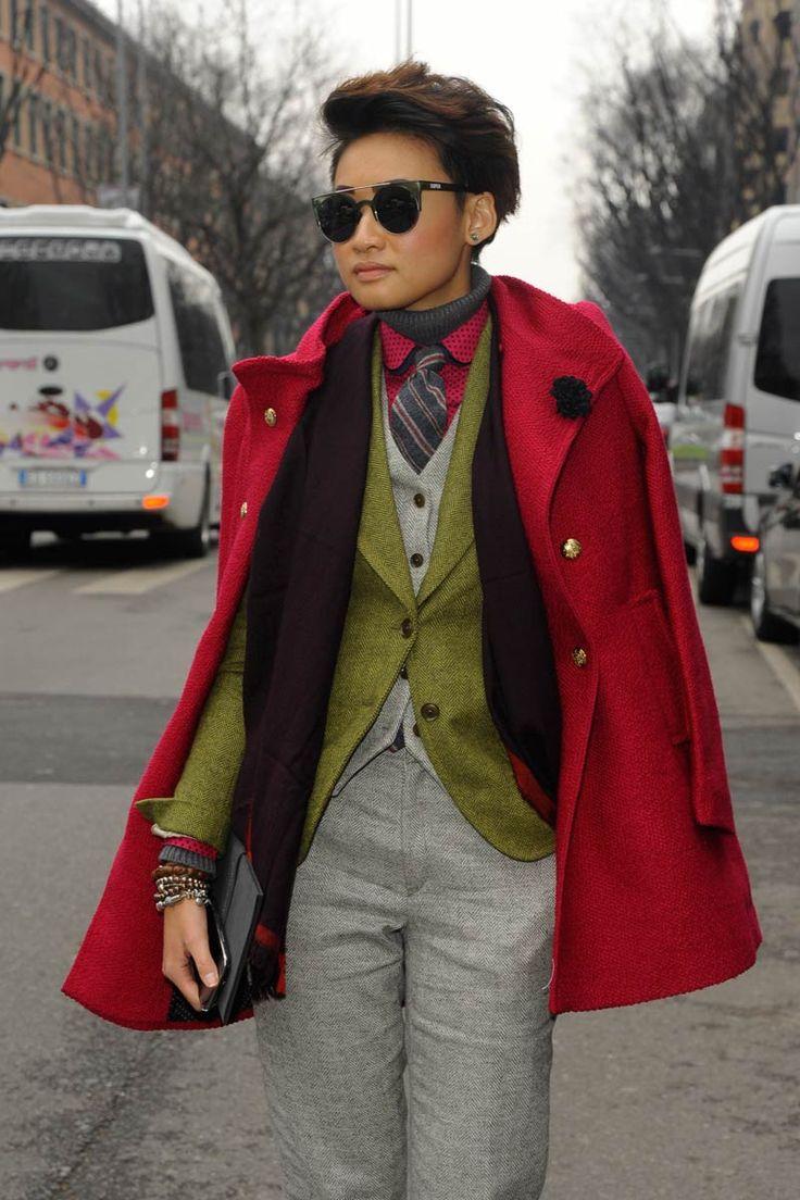 El estilo andrógino de la editora de moda Esther Quek