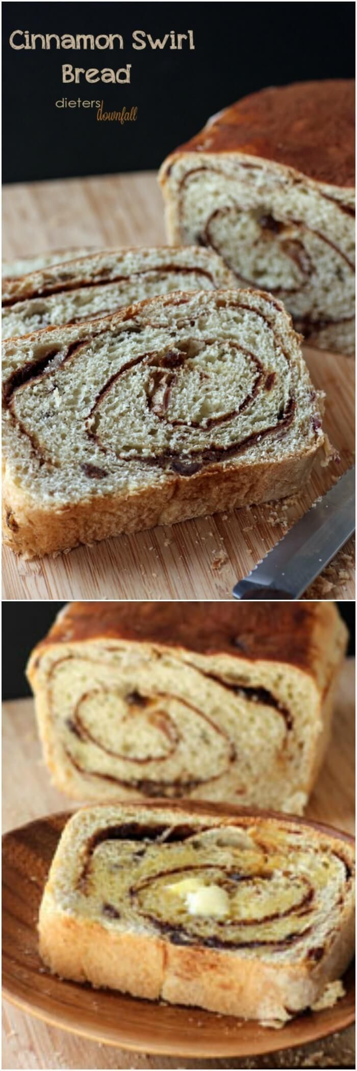 Homemade Cinnamon Raisin Bread Recipe. Makes two loaves. Tastes great toasted and slathered in butter!