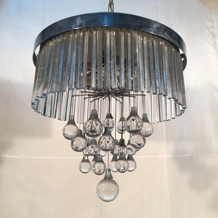 A personal favourite from my Etsy shop https://www.etsy.com/listing/486607739/italian-glass-and-nicheled-chandelier-by