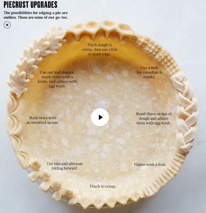 Pie Crust Upgrades by marthastewart #Infographic #Pie_Crusts