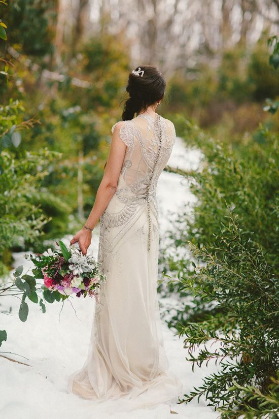 Winter Bride inspiration on PolkaDot Bride   Gwendolynne dresses   © Hyggelig Photography