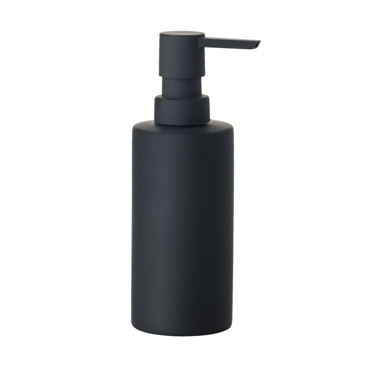 Solo Seifenspender schwarz -  - A055417.001 Jetzt bestellen unter: http://www.woonio.de/produkt/solo-seifenspender-schwarz-a055417-001/