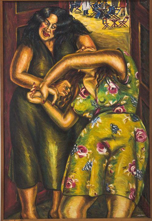 La lucha del destino/ s.f/ Óleo sobre lienzo/ 145 x 97 cm