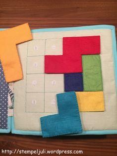 Quiet Book naehen DIY Stoff Filz Puzzle Formen Farben