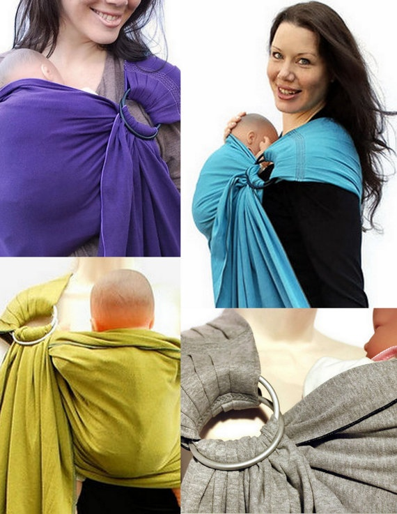 Newborn Baby Carrier Ring Sling Babysoft Stretch In Navy See My