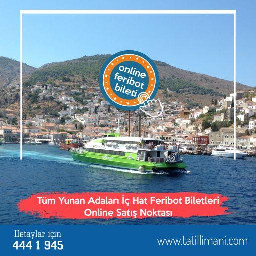 Yunan Adaları seyahatiniz için koltuğunuzu ayırttınız mı?  Yunan Adaları iç hat feribot biletinizi hemen almak için tatillimani.com'u tıklayın ya da 444 1 945 numaralı telefonumuzu arayın...