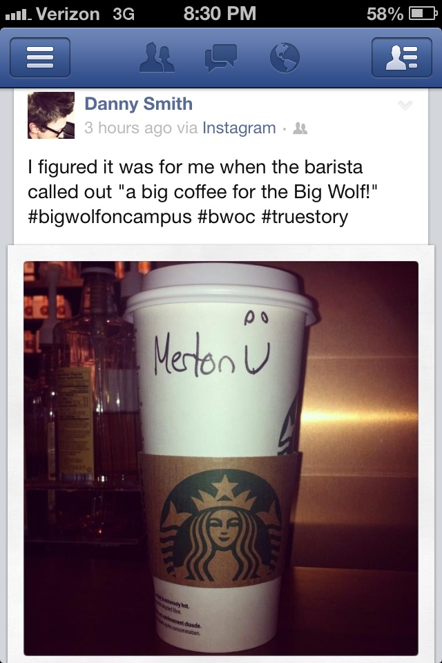 Danny Smith posted this! For those of you who remember the show Big Wolf on Campus he was Merton.