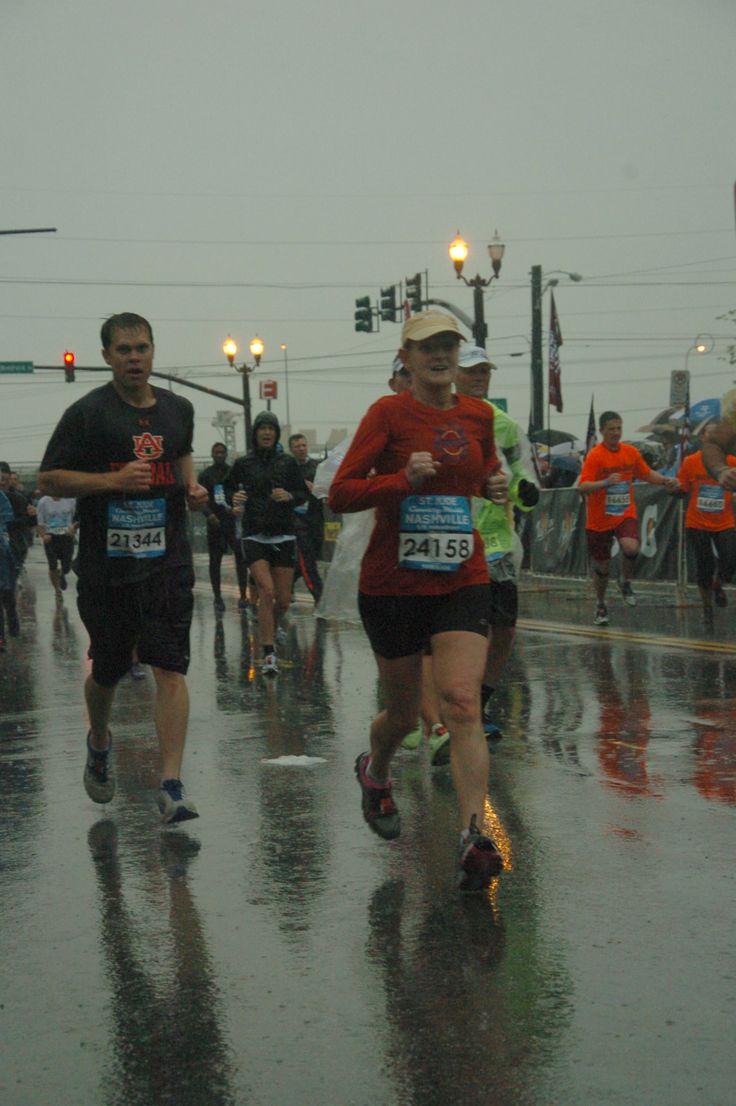 Running the Nashville Half Marathon in the Rain