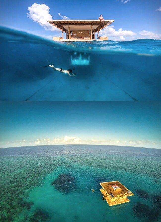 Manta Resort Underwater Room » Design You Trust