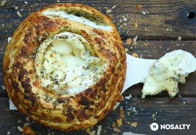 Camemberttel töltött kenyér